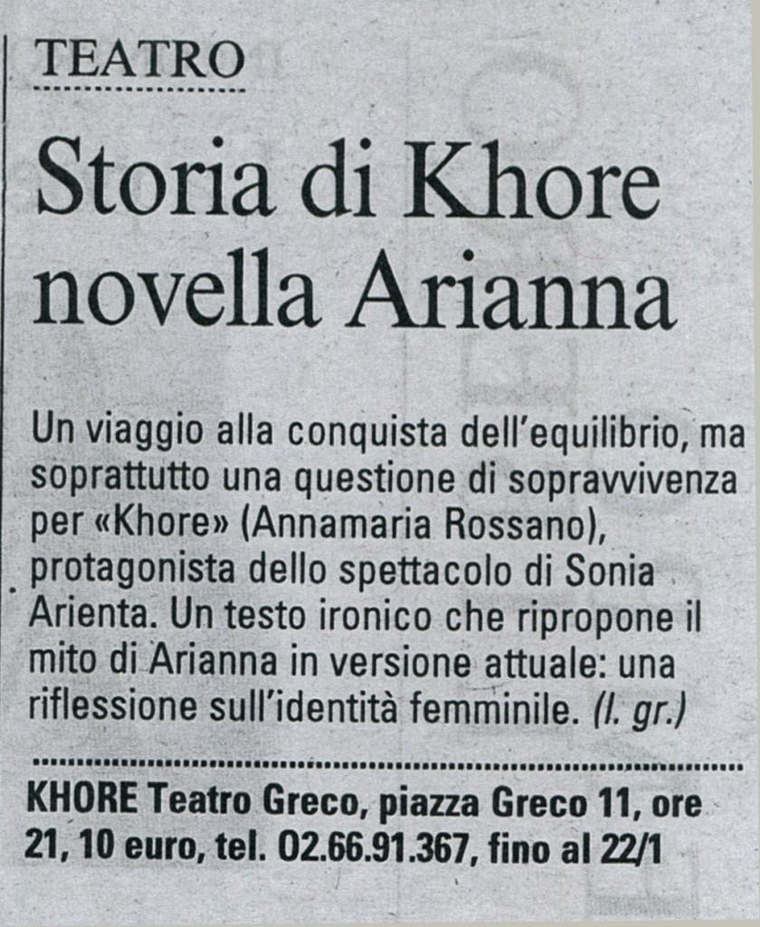 khore-sonia-arienta-corriere-della-sera testo